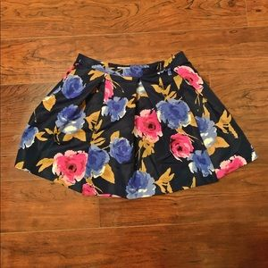 Floral flared skirt